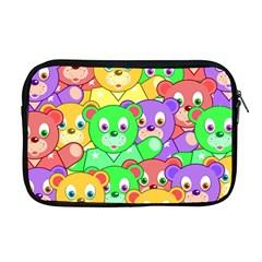 Cute Cartoon Crowd Of Colourful Kids Bears Apple Macbook Pro 17  Zipper Case