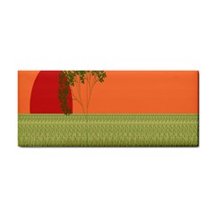 Sunset Orange Green Tree Sun Red Polka Cosmetic Storage Cases by Mariart