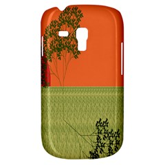 Sunset Orange Green Tree Sun Red Polka Galaxy S3 Mini by Mariart