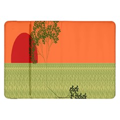 Sunset Orange Green Tree Sun Red Polka Samsung Galaxy Tab 8 9  P7300 Flip Case by Mariart