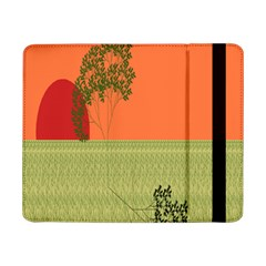 Sunset Orange Green Tree Sun Red Polka Samsung Galaxy Tab Pro 8 4  Flip Case by Mariart