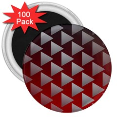 Netflix Play Button Pattern 3  Magnets (100 Pack)