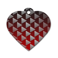 Netflix Play Button Pattern Dog Tag Heart (one Side)