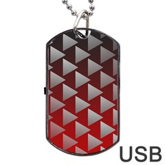 Netflix Play Button Pattern Dog Tag Usb Flash (two Sides)