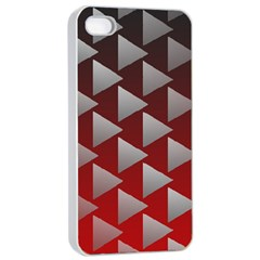 Netflix Play Button Pattern Apple Iphone 4/4s Seamless Case (white)