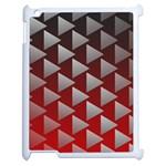 Netflix Play Button Pattern Apple iPad 2 Case (White) Front
