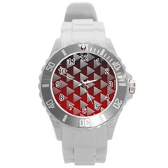 Netflix Play Button Pattern Round Plastic Sport Watch (l)