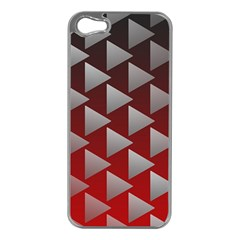 Netflix Play Button Pattern Apple Iphone 5 Case (silver) by Nexatart