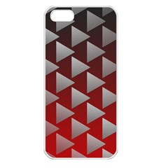 Netflix Play Button Pattern Apple Iphone 5 Seamless Case (white) by Nexatart