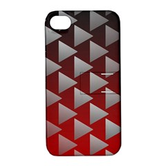 Netflix Play Button Pattern Apple Iphone 4/4s Hardshell Case With Stand