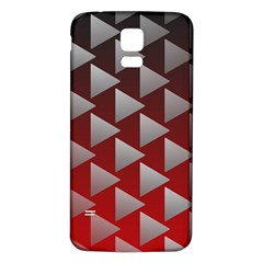 Netflix Play Button Pattern Samsung Galaxy S5 Back Case (white)