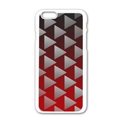 Netflix Play Button Pattern Apple Iphone 6/6s White Enamel Case