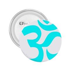 Hindu Om Symbol (cyan) 2 25  Buttons by abbeyz71