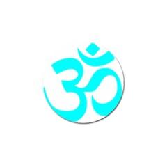 Hindu Om Symbol (cyan) Golf Ball Marker (4 Pack) by abbeyz71