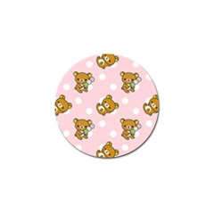 Kawaii Bear Pattern Golf Ball Marker (10 Pack)
