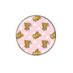 Kawaii Bear Pattern Hat Clip Ball Marker by Nexatart