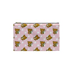 Kawaii Bear Pattern Cosmetic Bag (small)