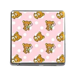 Kawaii Bear Pattern Memory Card Reader (square) by Nexatart