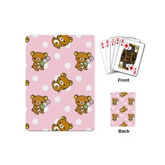 Kawaii Bear Pattern Playing Cards (mini)  by Nexatart