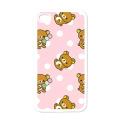 Kawaii Bear Pattern Apple Iphone 4 Case (white) by Nexatart
