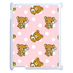 Kawaii Bear Pattern Apple Ipad 2 Case (white) by Nexatart
