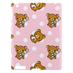 Kawaii Bear Pattern Apple Ipad 3/4 Hardshell Case by Nexatart