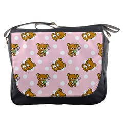 Kawaii Bear Pattern Messenger Bags by Nexatart