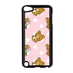 Kawaii Bear Pattern Apple Ipod Touch 5 Case (black) by Nexatart