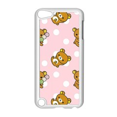 Kawaii Bear Pattern Apple Ipod Touch 5 Case (white) by Nexatart
