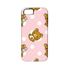 Kawaii Bear Pattern Apple Iphone 5 Classic Hardshell Case (pc+silicone)