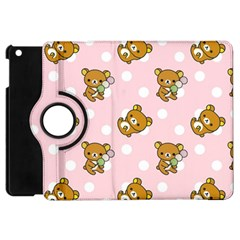 Kawaii Bear Pattern Apple Ipad Mini Flip 360 Case by Nexatart