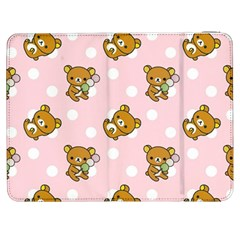 Kawaii Bear Pattern Samsung Galaxy Tab 7  P1000 Flip Case by Nexatart