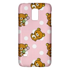 Kawaii Bear Pattern Galaxy S5 Mini by Nexatart