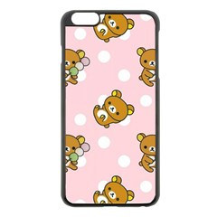 Kawaii Bear Pattern Apple Iphone 6 Plus/6s Plus Black Enamel Case