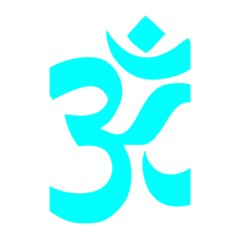 Hindu Om Symbol (cyan) Shower Curtain 48  X 72  (small)  by abbeyz71