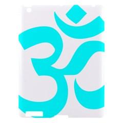 Hindu Om Symbol (cyan) Apple Ipad 3/4 Hardshell Case by abbeyz71