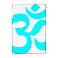 Hindu Om Symbol (cyan) Apple Ipad Mini Hardshell Case (compatible With Smart Cover) by abbeyz71
