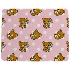 Kawaii Bear Pattern Jigsaw Puzzle Photo Stand (rectangular) by Nexatart