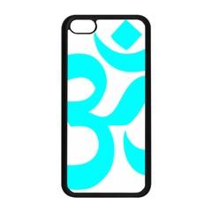 Hindu Om Symbol (cyan) Apple Iphone 5c Seamless Case (black) by abbeyz71