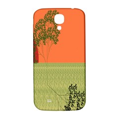 Sunset Orange Green Tree Sun Red Polka Samsung Galaxy S4 I9500/i9505  Hardshell Back Case by Mariart