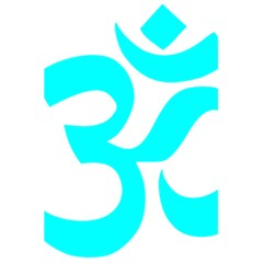 Hindu Om Symbol (cyan) 5 5  X 8 5  Notebooks by abbeyz71