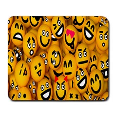 Smileys Linus Face Mask Cute Yellow Large Mousepads by Mariart