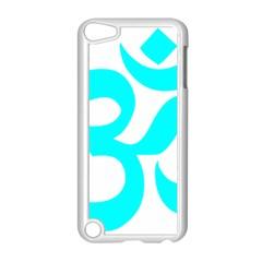 Hindu Om Symbol (cyan) Apple Ipod Touch 5 Case (white) by abbeyz71