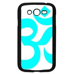 Hindu Om Symbol (cyan) Samsung Galaxy Grand Duos I9082 Case (black) by abbeyz71