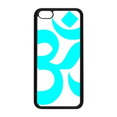 Hindu Om Symbol (cyan) Apple Iphone 5c Seamless Case (black) by abbeyz71
