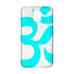 Hindu Om Symbol (cyan) Samsung Galaxy S5 Hardshell Case  by abbeyz71