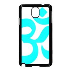 Hindu Om Symbol (cyan) Samsung Galaxy Note 3 Neo Hardshell Case (black) by abbeyz71