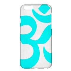 Hindu Om Symbol (cyan) Apple Iphone 6 Plus/6s Plus Hardshell Case by abbeyz71