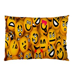 Smileys Linus Face Mask Cute Yellow Pillow Case (two Sides) by Mariart