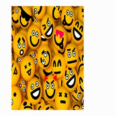 Smileys Linus Face Mask Cute Yellow Small Garden Flag (two Sides) by Mariart